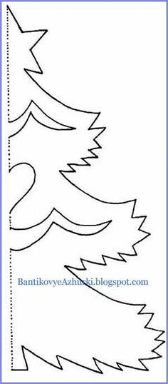 Ideas Decor Christmas Templates For 2019 Christmas Origami, Christmas Paper Crafts, Noel Christmas, Christmas Colors, Christmas Projects, Holiday Crafts, Christmas Decorations, Christmas Ornaments, Christmas Tree Outline