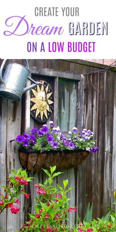 How to grow a dream garden for 100 dollars a year. These cheap (inexpensive) and creative garden ideas are offered for anyone starting a new garden on a very low budget. #gardening #gardentips #frugal #lowbudget #frugalgardening #gardenideas #savemoney #empressofdirt