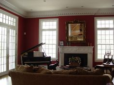 Family Room Baby Grand Piano Design, Pictures, Remodel, Decor and Ideas Traditional Family Rooms, Baby Grand Pianos, Old And New, Designing Women, Small Spaces, New Homes, Sweet Home, Lounge, Wall Decor