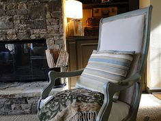 Annie Sloan chalk painted rocking chair. You gotta check out this before and after.