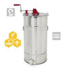 Stainless Steel 2 Frame Honey Extractor Manual Beekeeping Equipment Honeycomb US 741870532597