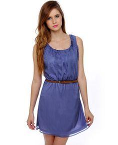 Gathering Place Periwinkle Blue Dress