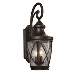 Shop allen + roth Castine 23-3/4-in H Rubbed Bronze Outdoor Wall Light at Lowes.com $100