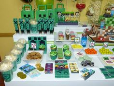 Fun treats at a Minecraft birthday party!  See more party planning ideas at CatchMyParty.com!