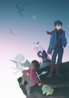 Dragon Prince Season 3, Prince Dragon, Dragon Princess, Rayla X Callum, Dragons, Young Prince, An Elf, Ghost In The Shell, Fantasy