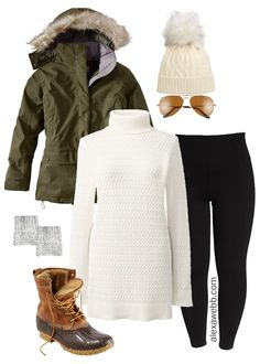 winter outfits leggins Straight Size to Plus Size - Winter Alpine Outfit Snow Outfits For Women, Winter Outfits For Teen Girls, Plus Size Winter Outfits, Outfits Plus Size, Plus Size Fall Outfit, Casual Winter Outfits, Curvy Outfits, Fashion Outfits, Leggings Outfit Winter