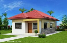This 3 bedroom house design has a total floor area of 82 square meters. Minimum lot size required for this design is 167 square meters with 10 meters lot width to maintain meters setback both side. Two Bedroom House Design, Two Story House Design, Three Bedroom House Plan, Bedroom House Plans, Simple House Plans, My House Plans, Simple House Design, House Floor Plans, Bungalow Haus Design