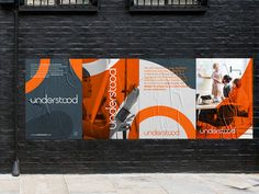 Understood Posters brand uk poster logo graphic design design art direction identity bristol print colour startup branding View on Dribbble Booth Design, Layout Design, Design Art, Print Design, Logo Design, Identity Design, Brochure Design, Visual Identity, Design Thinking