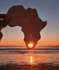 sunset via africa