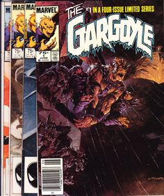 Gargoyle Marvel Comics Lot Full Run Set 1 2 3 4 Halloween Scary Tales of Horror Fear Terror Creepy Nightmare 1985 New NM by LifeofComics #comicbook
