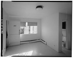 Interior of typical one-bedroom unit in Type C residential building.  View to southeast. - Lincoln Park Homes, Type C Residential Building, West Colfax Avenue & Marispoa Street, Denver, Denver County, CO
