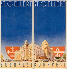 "Brochure for the St. Gellért Hotel, Budapest, circa 1932.  Signed ""R."""