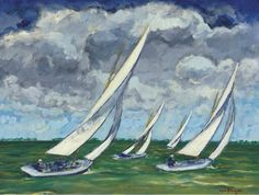 Kees van Dongen - A Regatta. 1930.  Oil on canvas, private collection.