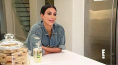 Gotcha: Kim Kardashian looked a bit smug in the latest Keeping Up With the Kardashians tea...