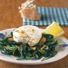 Spinat mit Ziegenkäse Rezept | Küchengötter