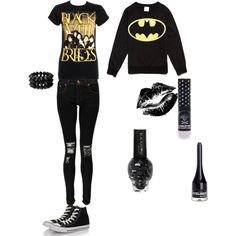 Black Veil Brides outfit. i need it love both bvb and batman