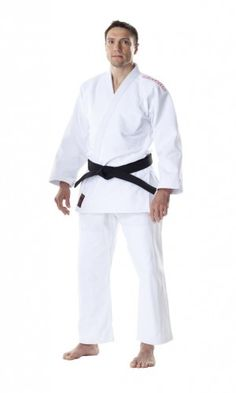 The Dax-Sports Moskito Light Judogi has been made especially for teenagers, using a strong but light-weight material that is ideal for training or competition. Approved for all National Championships and National Leagues 100% Cotton (approx. 550g/m²) Reinforced Jacket at Shoulders, Chest and Lapel Double stitching at the knees. Features a drawstring waistband Shrinkage rate: blue 4% and white 7% Available in White and Blue Embroidered with a Red 'Moskito' logo on the shoulders