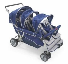 Stroller -- Six Seater Stroller Bye Bye Stroller with room for six (6) small passengers and lightweight frame it is easy to maneuver, and its all-terrain tires virtually roll over any surface. It folds in three easy steps for quick storage. In addition it has no-roll technology and a comfort-grip brake system and many more features. Great for day-care or sextuplets!