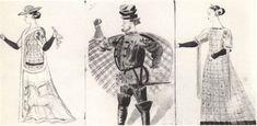 170. «Двенадцатая ночь» В.А. Фаворский. Эскизы костюмов. Мария, Сэр Тоби, Оливия. 1933