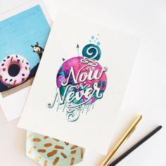 Good Morning Thursday!  #lettering #watercolor #winsorandnewton #calligritype #goodtype 156/365