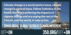 .@pontifex is not alone. People of faith everywhere are standing up to turn OFF the fossil fuel industry. #offandon