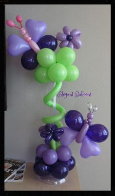 Butterfly Centerpiece - www.elegant-balloons.com