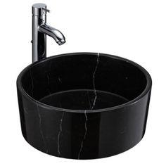 Arif gloss black marble wash bowl