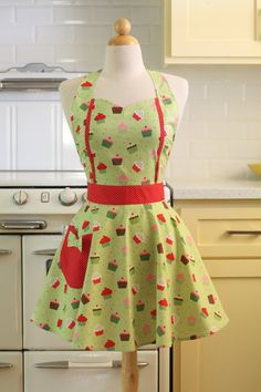 Apron Vintage Style Sweetheart Neckline Cupcakes on by Boojiboo, $28.75