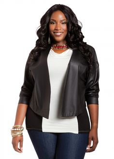 Ashley Stewart: Web Exclusive: Faux Leather Jacket