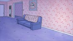 "The first approved background for ""Bee and PuppyCat, Part II,"" by the one-two punch of Alex Dilts and Emily Partridge."