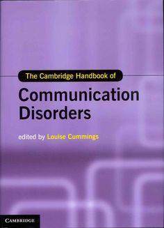Many children and adults experience impairment of their communication skills. These communication disorders impact adversely on all aspects of these individuals' lives. In thirty dedicated chapters, T