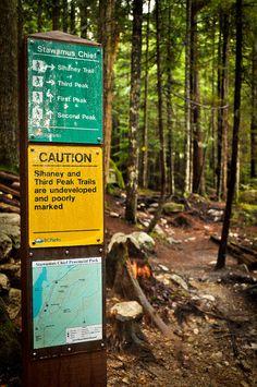 Stawamus Chief Trail Signs