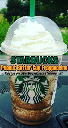 Starbucks Peanut Butter Cup Frappuccino Featuring chocolate and nutty flavors that go together like, well peanut butter and chocolate! Starbucks Frappuccino, Bebidas Do Starbucks, Starbucks Coffee, Healthy Starbucks Drinks, Starbucks Secret Menu Drinks, Yummy Drinks, Peanut Butter Cups, Peanut Butter Coffee, Frappe Recipe