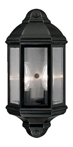 Pocket Lantern Collection Wall-Mount 2-Light Outdoor Black Coral Light Fixture -- Awesome products selected by Anna Churchill