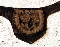 POCKET HIP BAG utility lace bohemian pixie steampunk