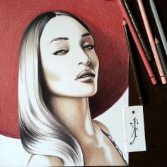 White Pen, Black And White, Jourdan Dunn, Pen Sketch, Faber Castell, Colored Pencils, Mona Lisa, Instagram Posts, Artwork