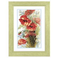 Poppies in the Wind Counted Cross Stitch Kit