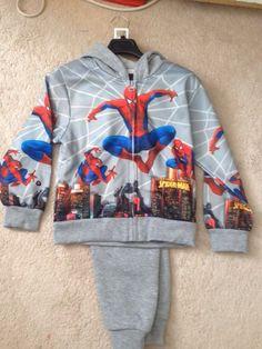2 piece boys spiderman track suit Gray Background, Hoodies, Sweatshirts, Elastic Waist, Spiderman, Track, Legs, Suits, Fall