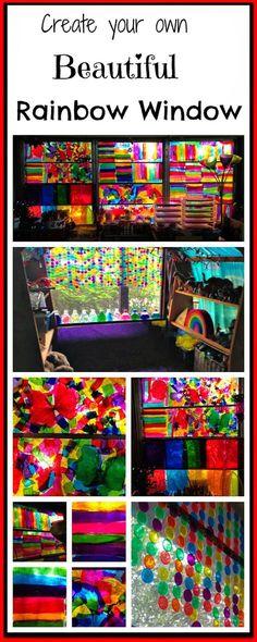 Create a Beautiful Rainbow Window