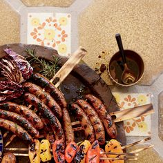 Sausage Mixed Grill with Balsamic Vinaigrette // More Fantastic Grilled Meats: http://www.foodandwine.com/slideshows/grilled-meats #foodandwine
