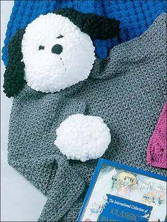 Shaggy Puppy Blanket Buddy - free crochet pattern