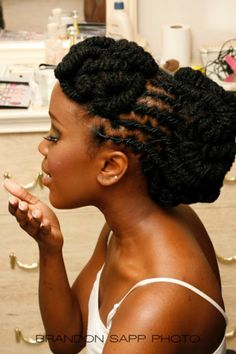 Loc Hairstyles | A great wedding day hairdo(I think I will rock this one at my wedding if I ever get married)!