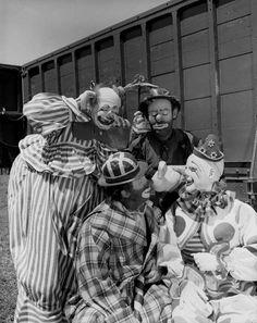 Group of famous Ringling Circus clowns in Sarasota, Florida.
