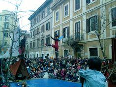 Artisti di strada al Pigneto, Roma