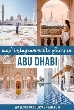 Looking for the most beautiful Instagrammable places in Abu Dhabi? Check out this guide to find the best photography spots in Abu Dhabi with their exact locations! #abudhabi #middleeast #instagrammable #shewandersabroad #unitedarabemirates | Abu Dhabi Instagram spots | Abu Dhabi top photography locations | Best places to take photos in Abu Dhabi | Abu Dhabi photography guide | Most beautiful places in Abu Dhabi| Top things to do in Abu Dhabi | Sheikh Zayed Grand Mosque | Qasr Al Watan Best Places In Dubai, Places Around The World, The Places Youll Go, Photography Guide, Amazing Photography, Visit Dubai, Dubai Travel, Grand Mosque, Marriott Hotels