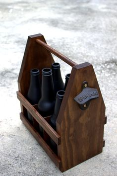 Beer Caddy with Bottle Opener, Wooden Craft Beer Tote - 6 Pack <> Groomsmen, Wedding, Father's Day Gift on Etsy, $30.00