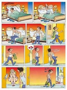 Acordar com vontade é normal para um homem: https://goo.gl/9a5MSP #quadrinhossafados #humordivertido