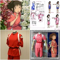 Chihiro Spirited Away garb idea Baby Cosplay, Anime Cosplay Costumes, Epic Cosplay, Cosplay Diy, Cute Halloween Costumes, Halloween Town, Halloween Cosplay, Spirit Halloween, Diy Costumes