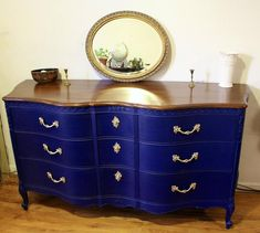 Funky Furniture, Refurbished Furniture, Repurposed Furniture, Furniture Projects, Furniture Makeover, Blue Painted Furniture, Cheap Furniture, Luxury Furniture, Bedroom Furniture