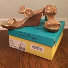 Never worn Jack Rogers shoes! Jack Rogera Luccia heels! Size 7 never worn Jack Rogers Shoes Heels